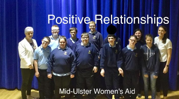 Pictured are some of the Senior School Pupils with Jean who took part in the Positive Relationship Course.