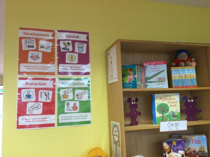 We have displayed lots of clear information around school about the UNCRC so everyone can learn more about it.
