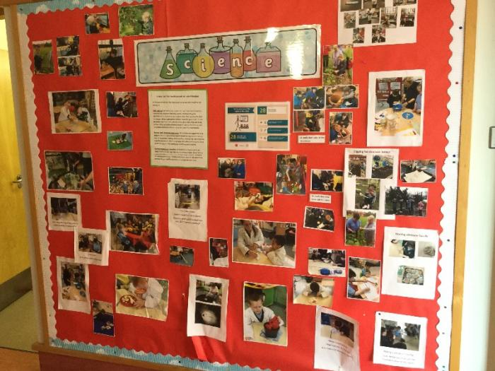 Lots of learning shown here on a Science display, we know we all have the right to our education.